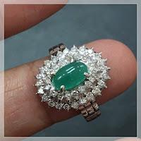 Jual Cincin Berlian Batu Zamrud Colombia