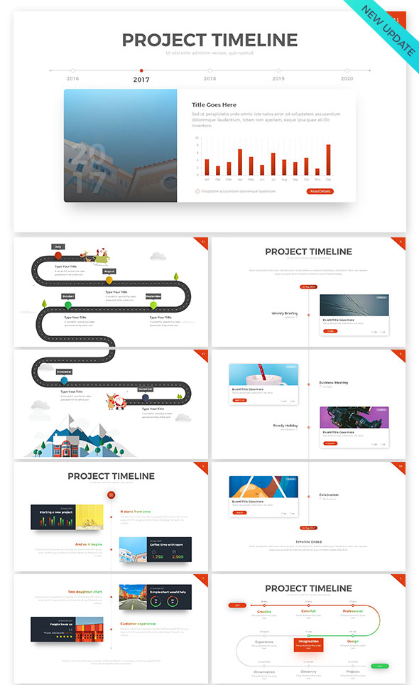 Stunning Project Timeline Template Powerpoint Contemporary - Project timeline powerpoint template