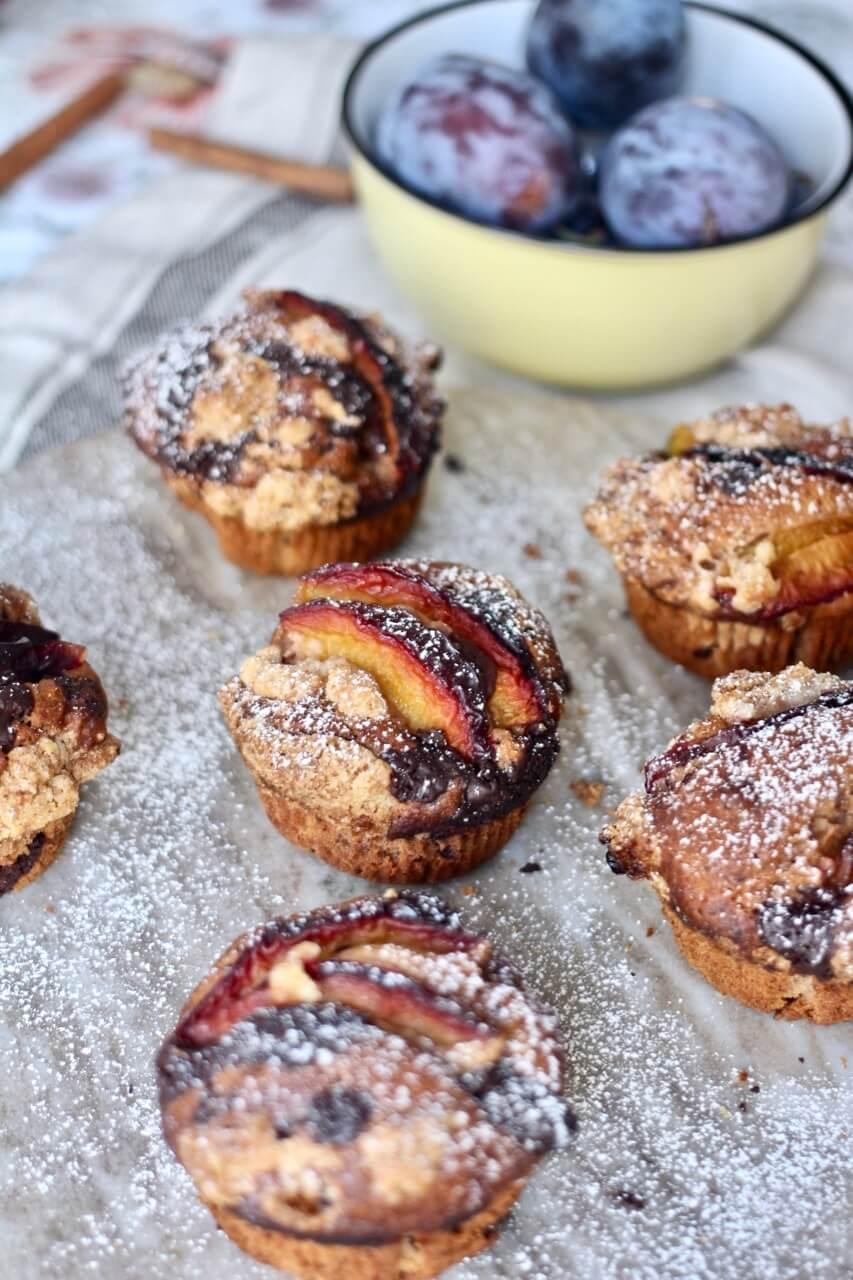 Zwetschken-Schoko-Muffins