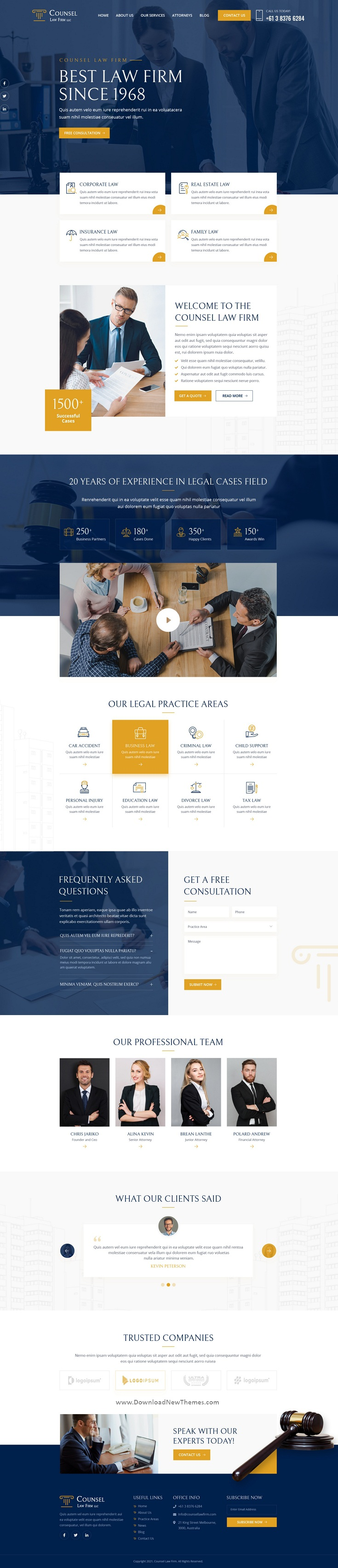 Law Firm UI Template
