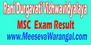 Rani Durgavati Vishwavidyalaya MSC III Sem 2016 Exam Result
