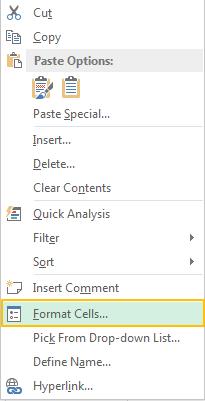 Menampilkan Format Cells Excel