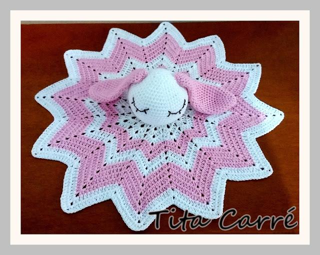 Naninha ou aconchego Coelha em crochet