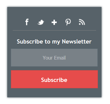 7 Best Stylish Email Subscription Widget For Blogger