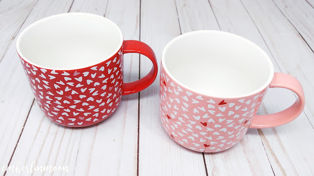 Stoneware Hearts Mugs Red/Pink - Opalhouse