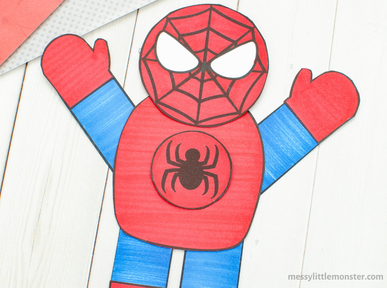 Spiderman craft and template