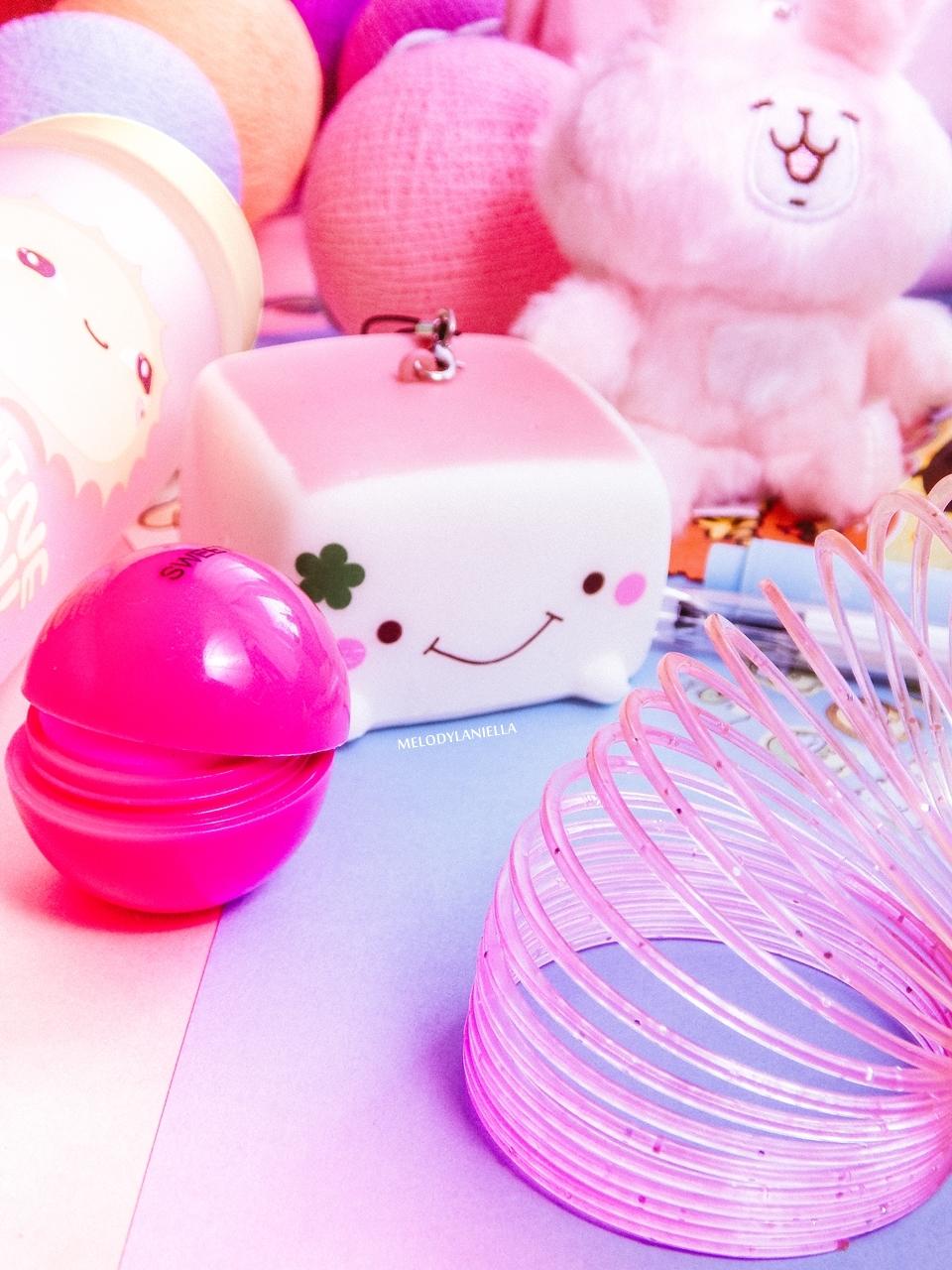 7 kawaii box august sierpień rewiev recenzja giveaway konkurs rozdanie gadżety z japonii kolorowe dodatki słodycze z japonii fajne długopisy, butelka na wodę my melody melodylaniella pudding tofu brelok