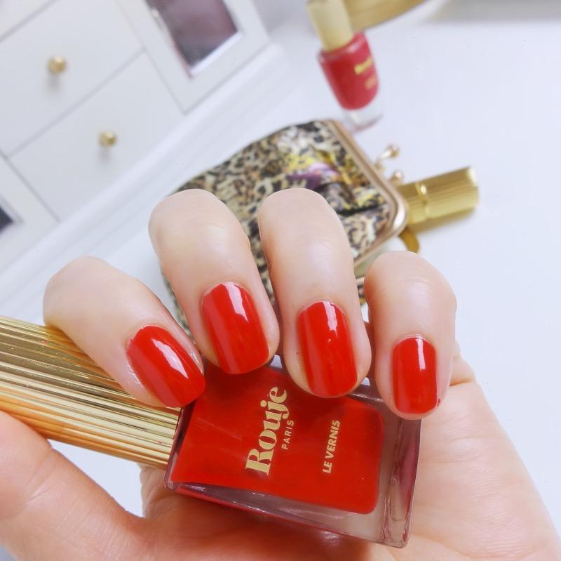 Rouje nail polish Effrontee swatch