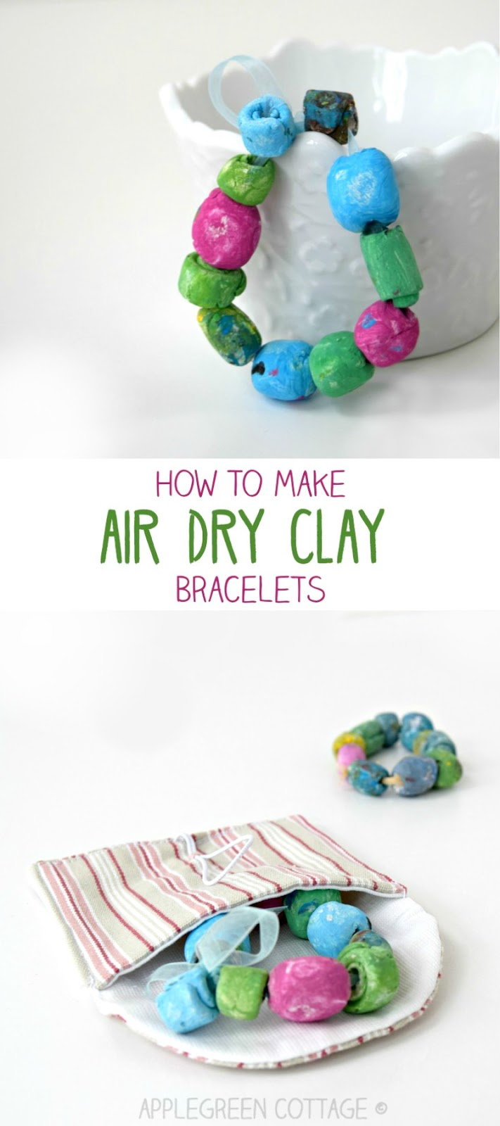 Air Dry Clay Bracelet Mother S Day Diy Applegreen Cottage