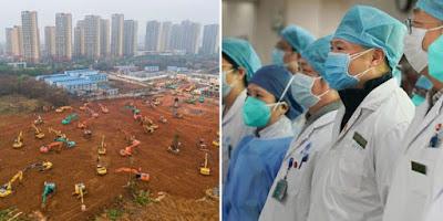 Rumah Sakit Darurat Dibangun di Wuhan dan Ribuan Tenaga Medis Dikerahkan
