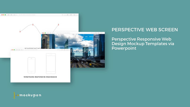 Powerpoint Web UI 3 Screen Mockup Templates