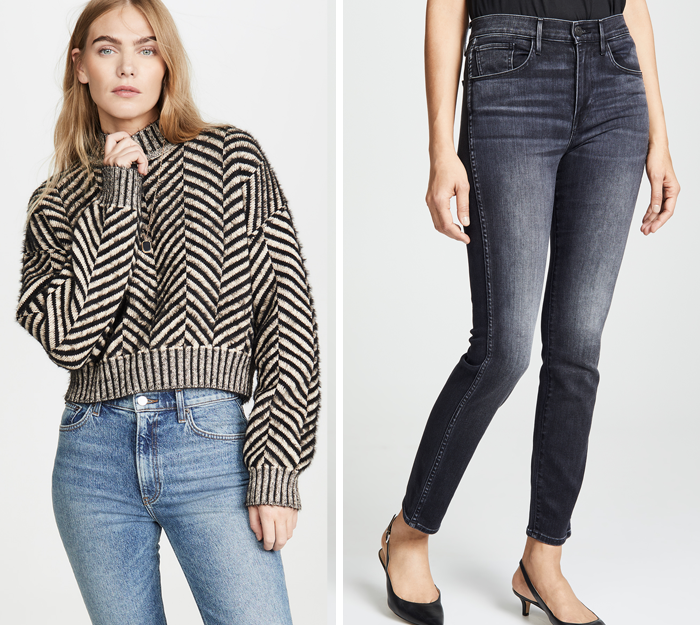 shopbop fall trends jeans sweaters