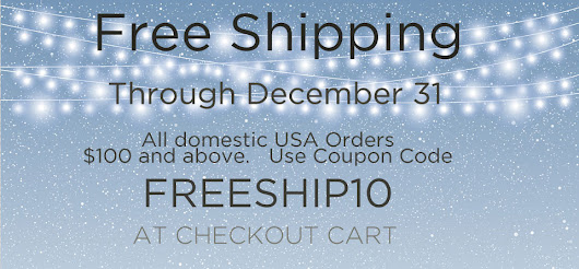 Tender Treasures - Gerry's Blog: Tender Treasures now offering FREE SHIPPING through December 31 with coupon code.