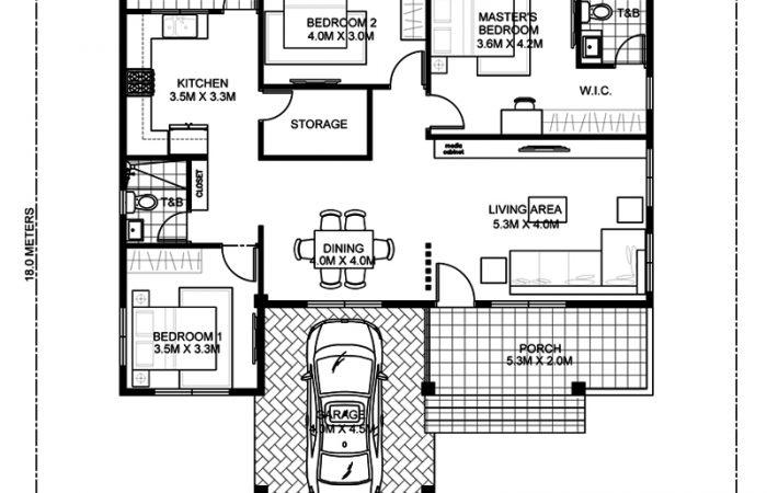 MyHousePlanShop: Single Story Three Bedroom House Plan ...