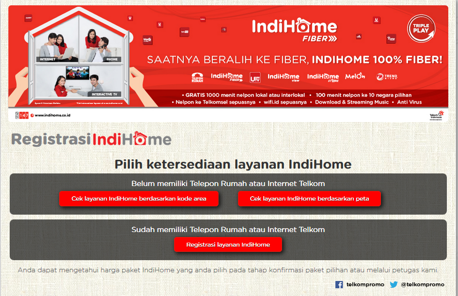ww: Tarif Harga & Cara Berlangganan Indihome (UseeTV, Speedy ...