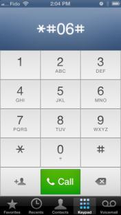 Temukan iPhone IMEI Dari iPhone