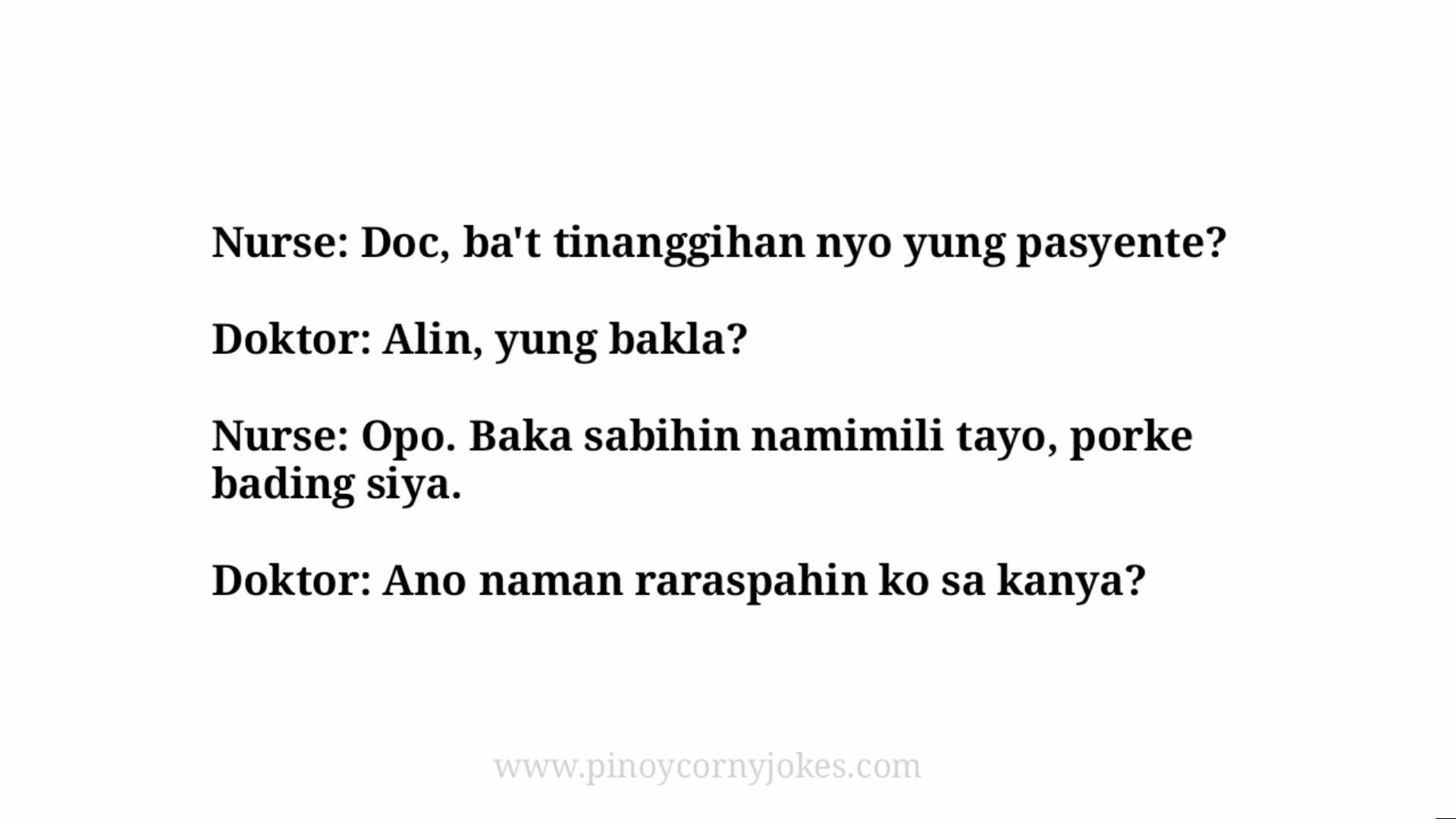bakla doctor jokes tagalog