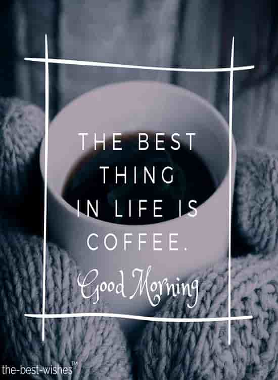 good morning friends with coffee image