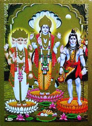 shiv vishnu brhma wallpaper