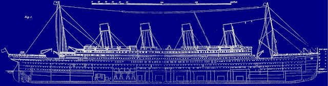 Titanic original blueprint plans