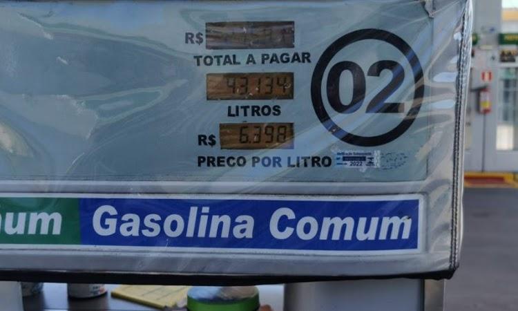 Gasolina chega a R$ 6,40 em Guanambi após novo reajuste