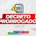 Ponto Novo: Prefeitura prorroga decreto por mais 07 dias com medidas de enfrentamento ao Coronavírus (COVID-19)