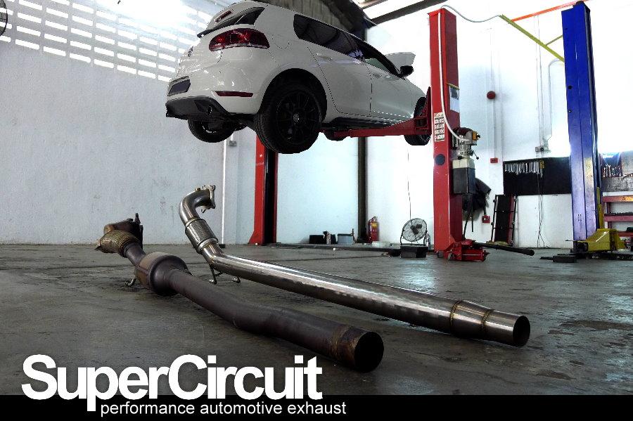 supercircuit exhaust pro shop vw golf mk6 gti catless. Black Bedroom Furniture Sets. Home Design Ideas