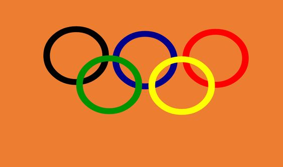 A imagem mostra os anéis dos jogos olímpicos entrelaçados que simbolizam a união dos cinco continentes do mundo.