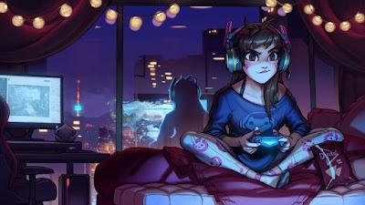 gamers ilustrasi
