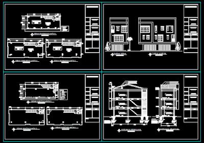 Gambar Ruko 3 Lantai Lengkap Dengan Perhitungan Struktur