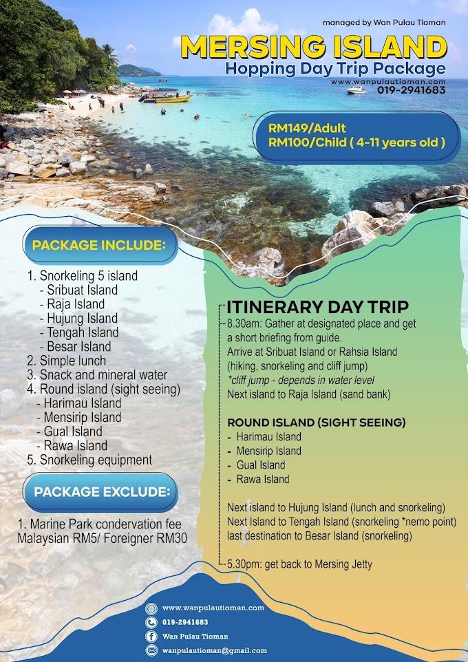 Pakej Day Trip Ke Pulau Mersing 2021 ~ Trip Pulau Sribuat