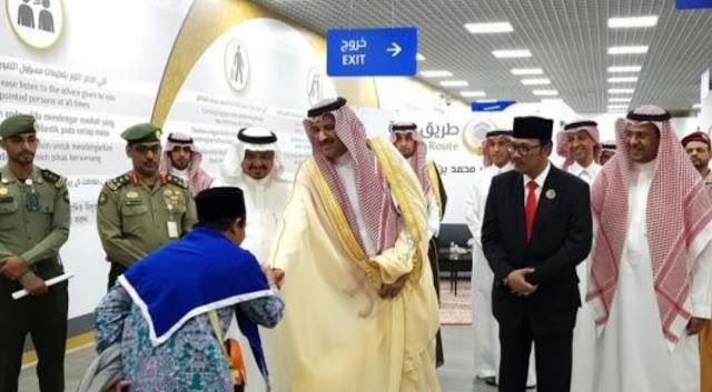 Untuk Kali Pertama, Pangeran Arab Saudi Sambut Jemaah Indonesia