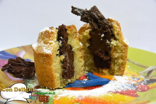 מאפינס עם מקופלת Muffins with chocolate bar Mekupelet