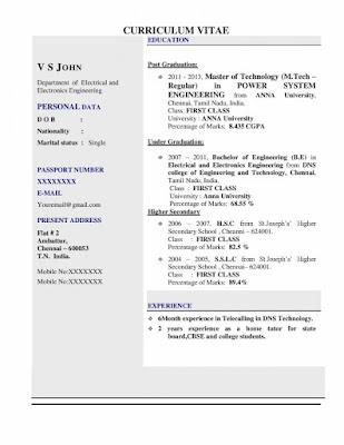 Modern CV Resume for Teachers 1