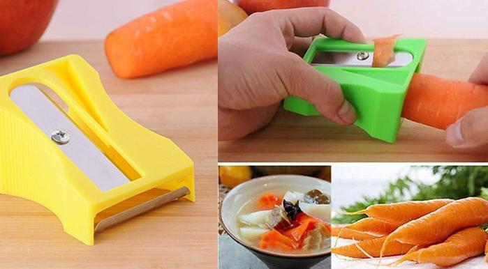 Carrot Cucumber Vegetable Fruit Curl Slicer Peeler