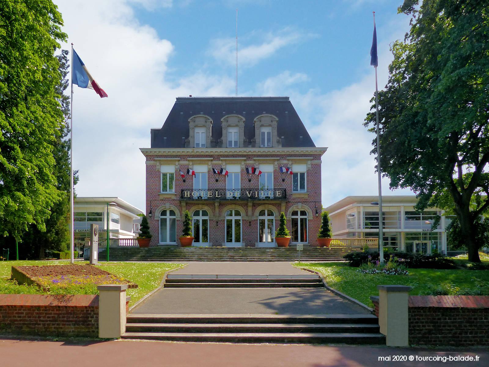 Façade de l'Hôtel de Ville de Mouvaux, 2020
