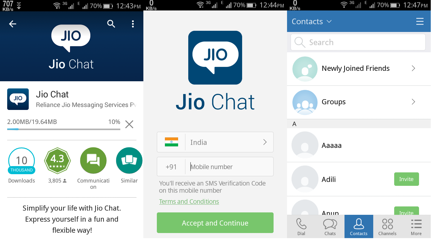 jio chat messenger apps download