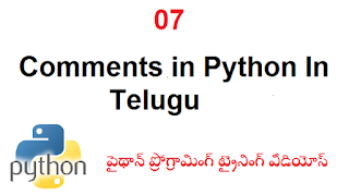 07 Comments in Python In Telugu