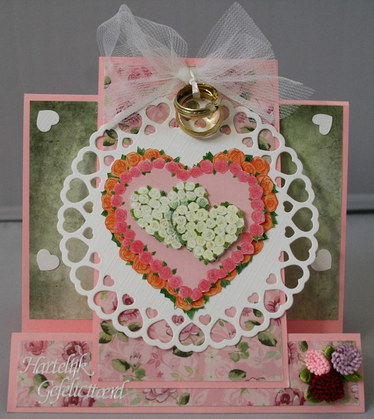 Het Banter Hobbyhoekje Huwelijk Huwelijksdag Kaart