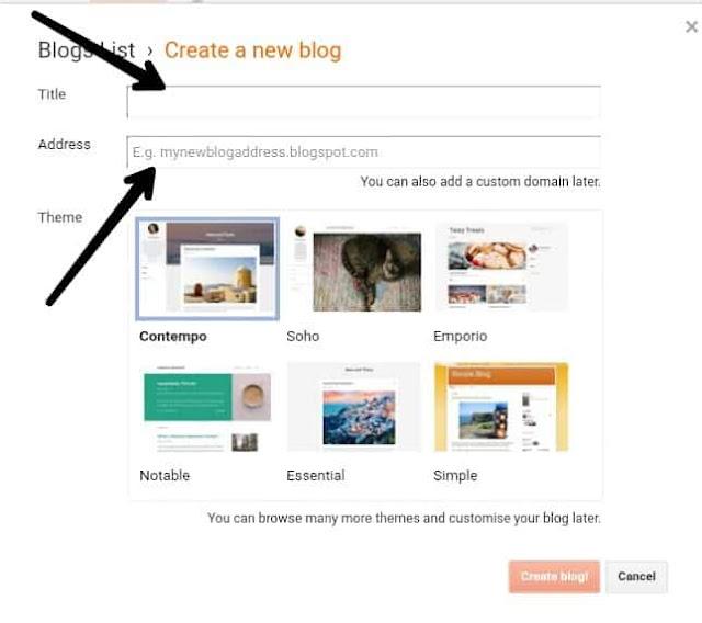 Create Free Website On Blogger