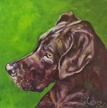"""Great Dane"", dog portrait in oils"