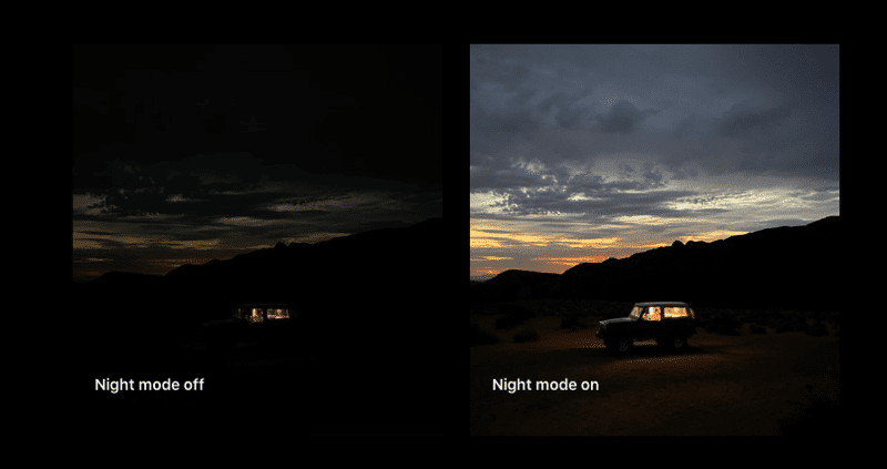 Night mode in iphone 11 max pro