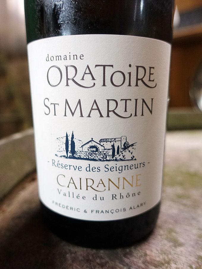Domaine Oratoire Saint-Martin Reserve de Seigneurs Cairanne Blanc 2017 (89 pts)