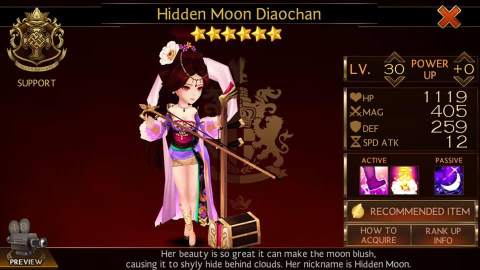 Gaming raccoon and life game guide seven knights sena lu bu three kingdoms - Seven knights diaochan ...