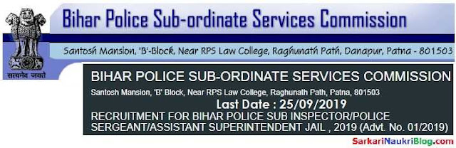 BPSSC Bihar Police Vacancy Recruitment