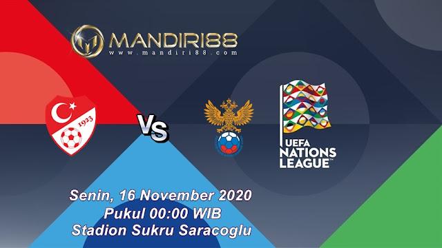 Prediksi Turki Vs Rusia, Senin 16 November 2020 Pukul 00.00 WIB @ Mola TV