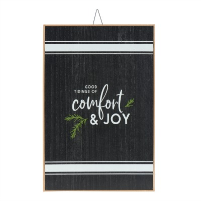 striped Christmas sign