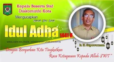 Kadis Kominfo Kobi Beserta Staf Mengucapkan Selamat Hari Raya Idul Adha 1441 Hijriyah