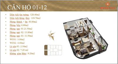 Căn hộ 01 - 12 Imperial Plaza