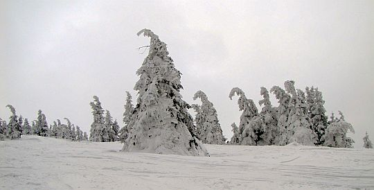Masyw Pilska w zimie.
